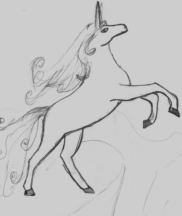 единорог картинки карандашом как нарисовать достаточно простой