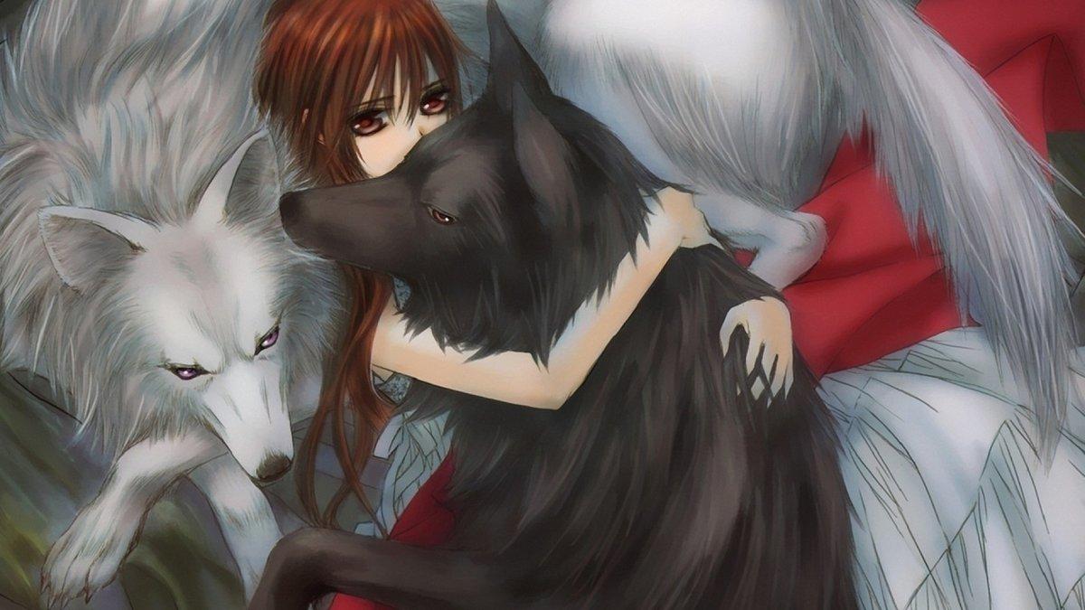 Аниме картинки волки девушки