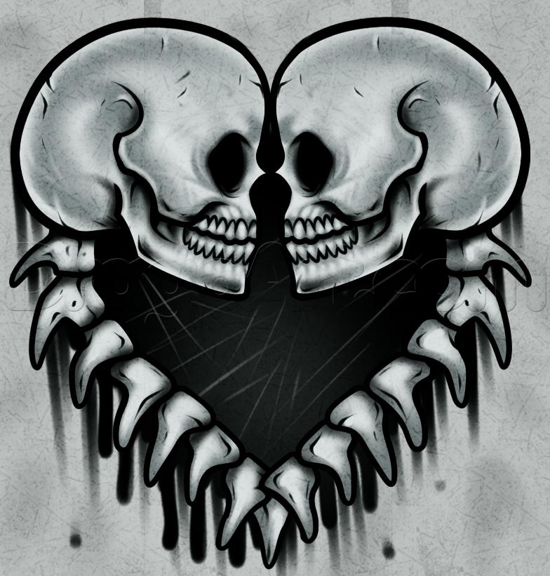 рисунки и картинки смайлики в виде скелета