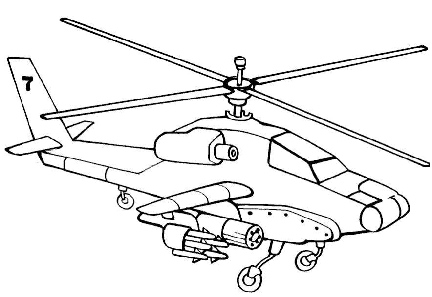 «Раскраска вертолёта «Чёрная акула»» — карточка ...