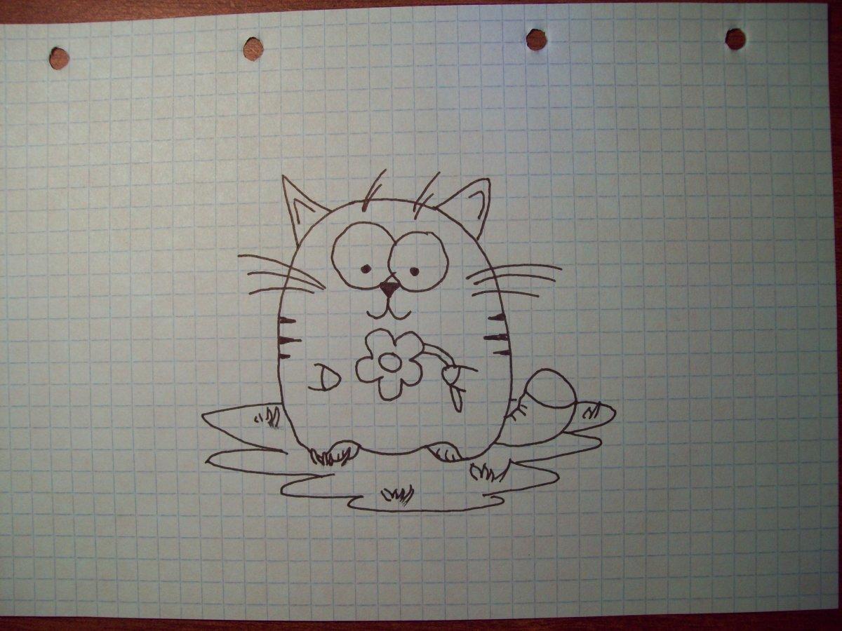 вышиваю прикольные рисунки черной ручкой для начинающих удобства все