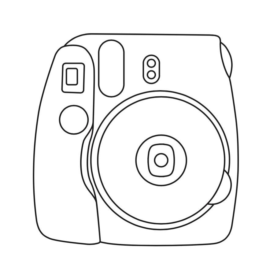 Фотоаппарат картинка для срисовки