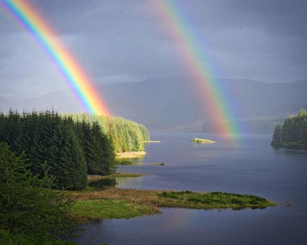 Карта, дождь и радуга картинки