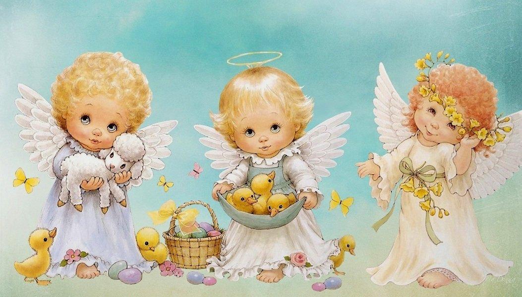 Вечная память, открытка ангелочком
