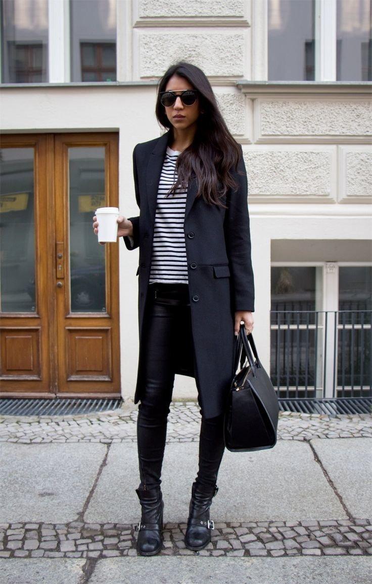 беларуси стильные образы с черным пальто фото всего