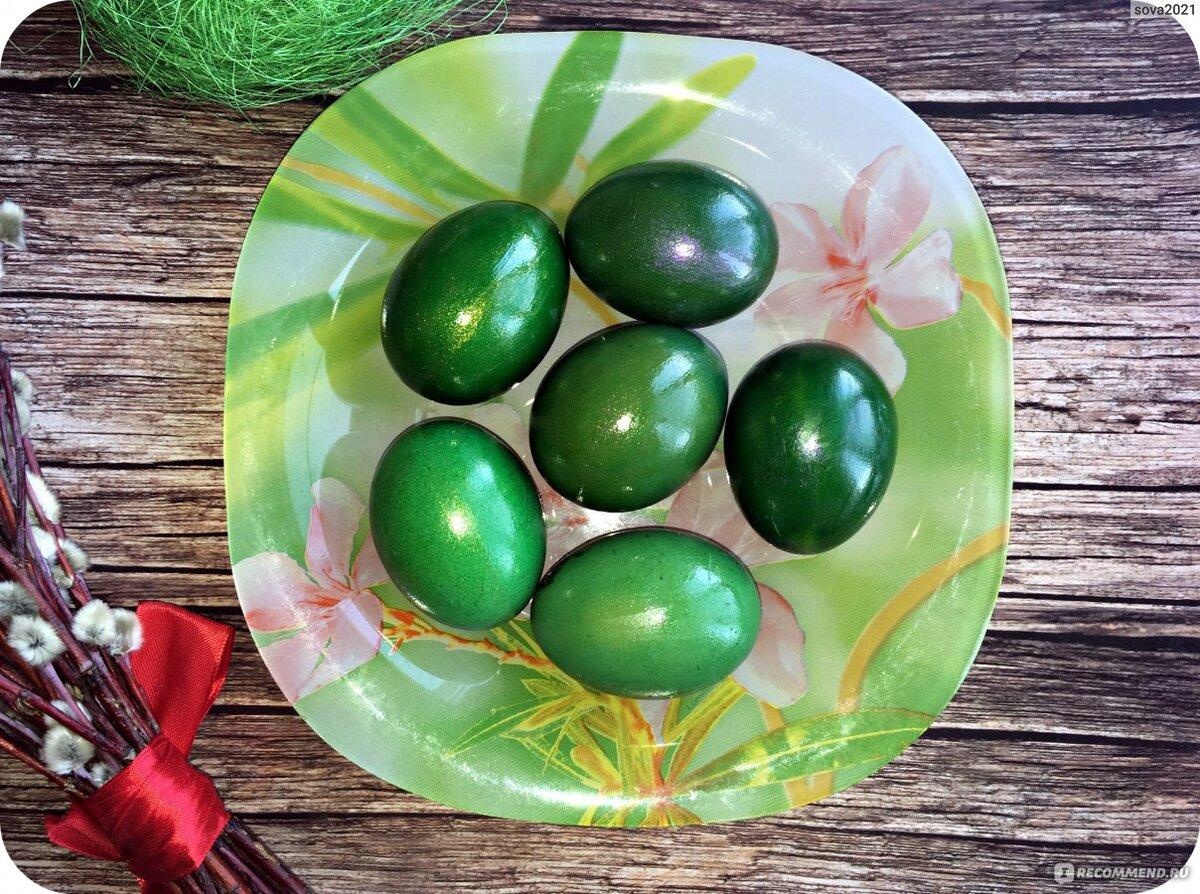 окрашивание яиц шпинатом