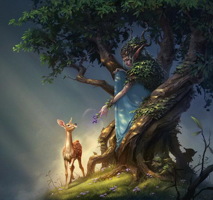 деревья друидов, магия общения с деревьями