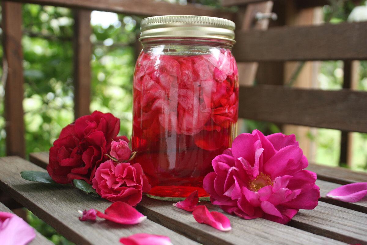 розовая наливка рецепт
