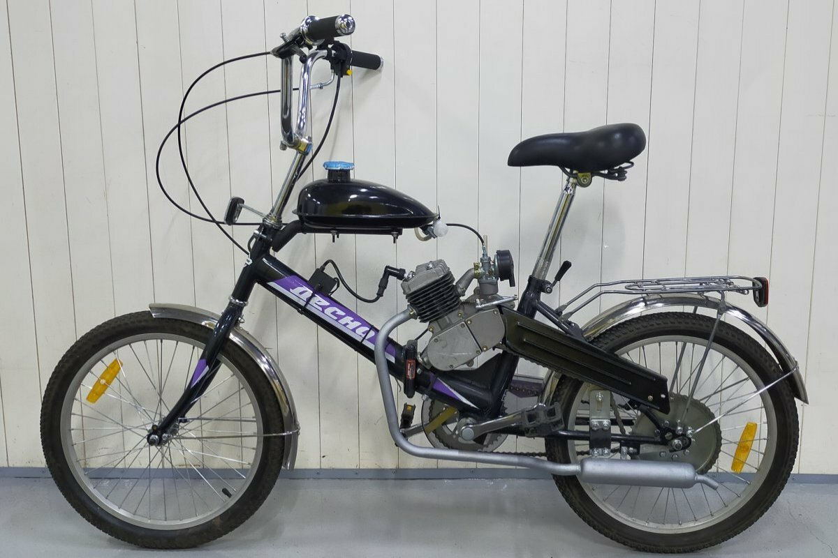 Установка веломотора на складной велосипед Десна