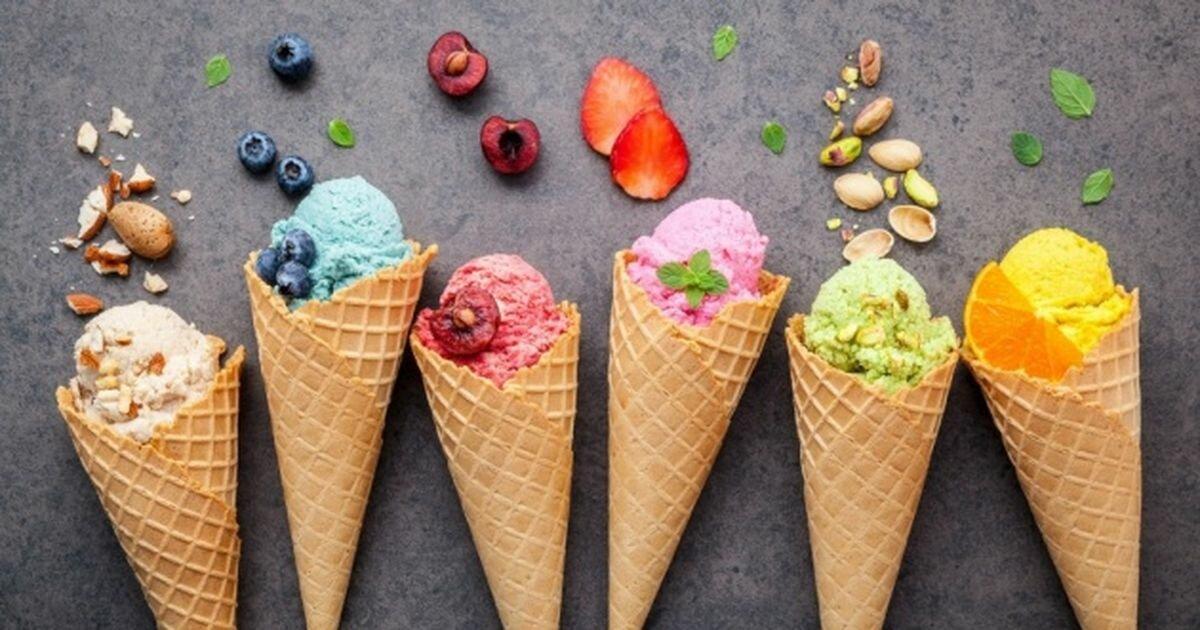 рецепты разноцветного мороженого