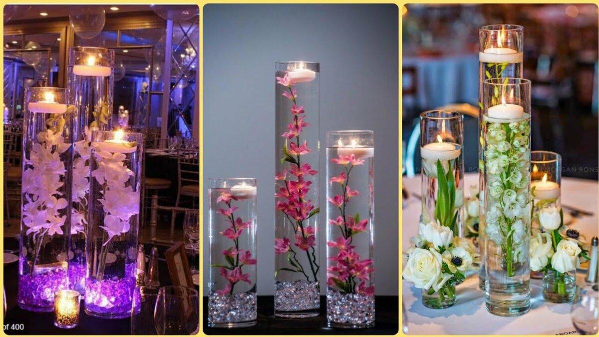 цветы внутри свечи как сделать