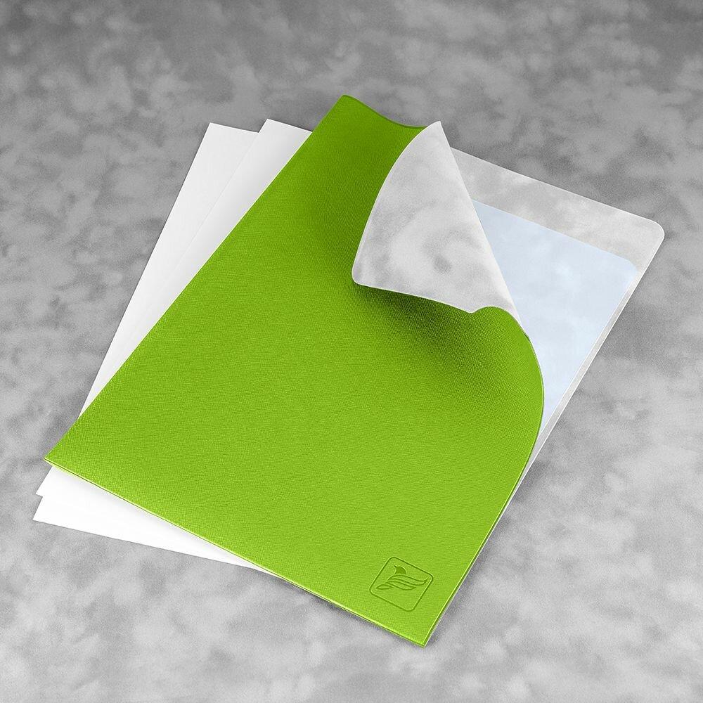 Кожаная папка-уголок с логотипом