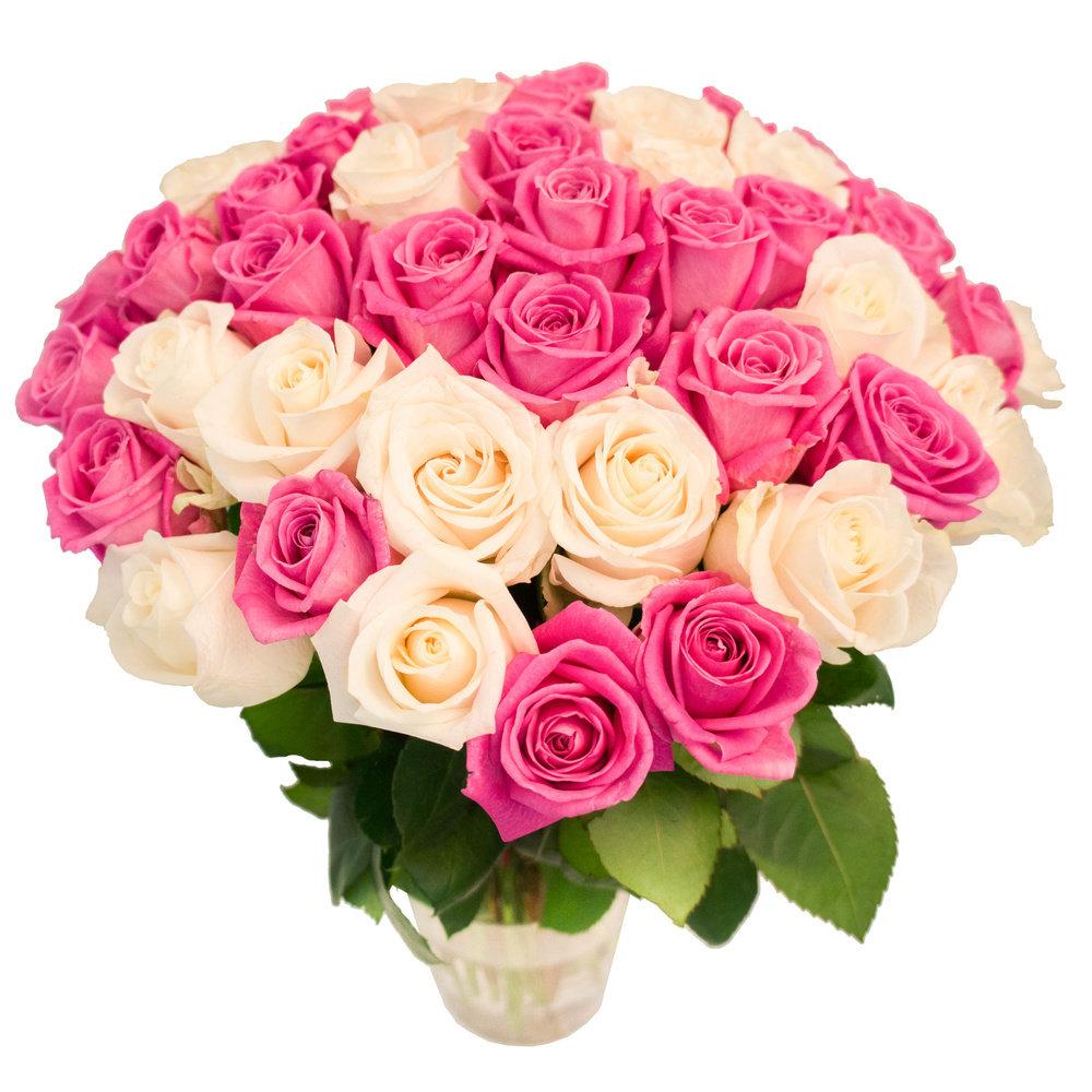 Красивейший букет фото, розы аспидистра