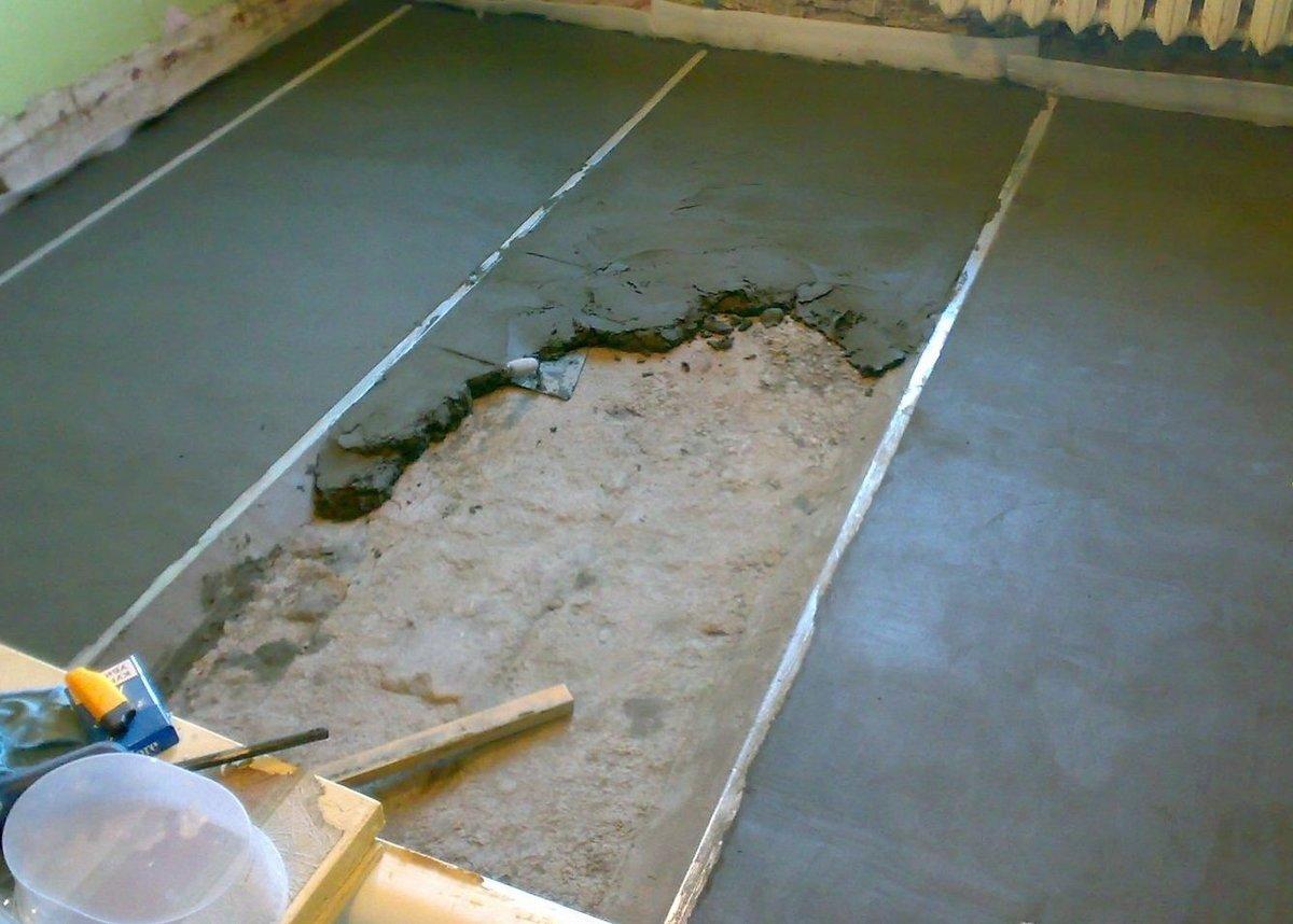 стоимость работ по заливке бетонного пола