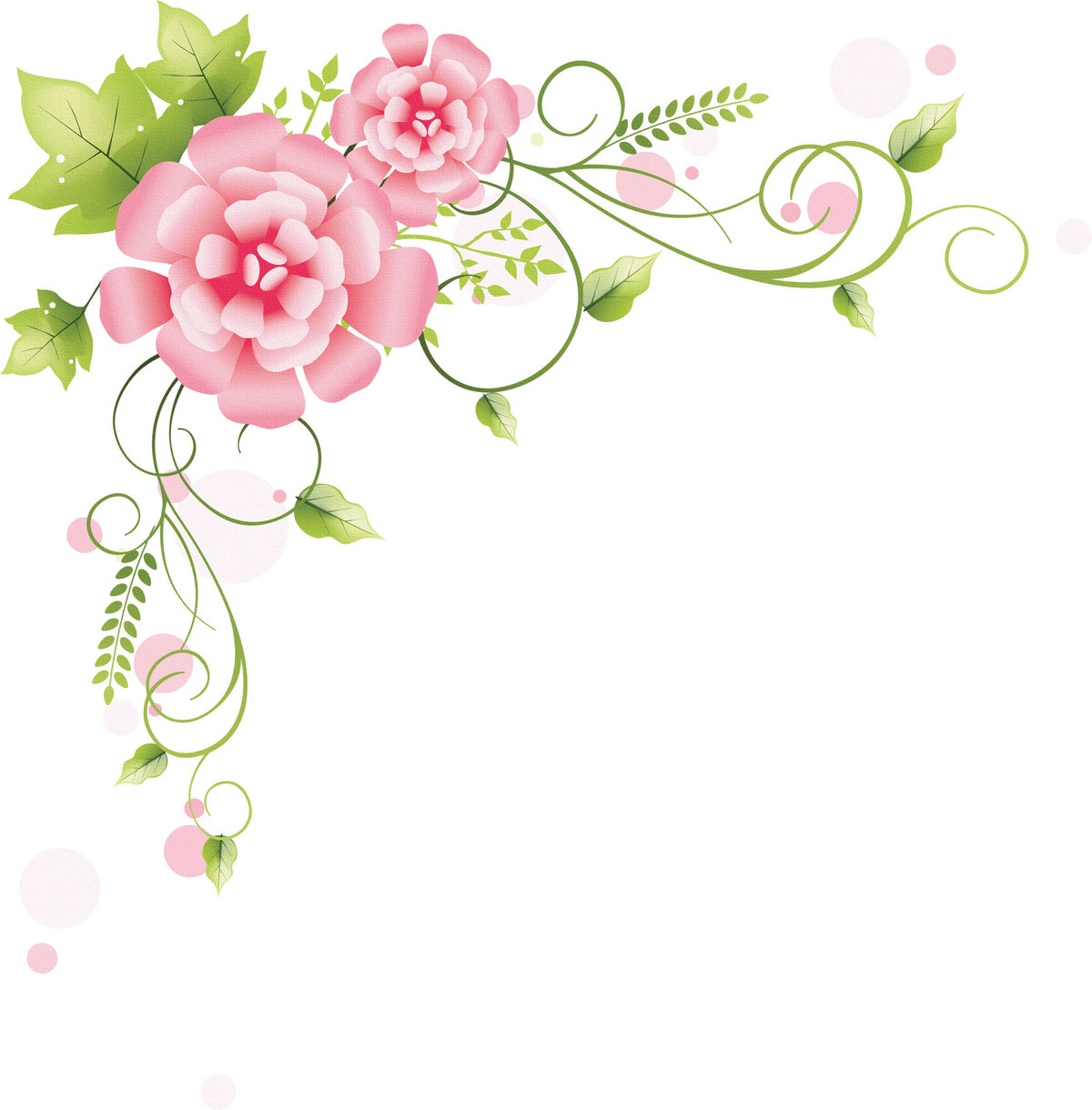 Орнаменты цветочные для открыток, картинка днем рождения