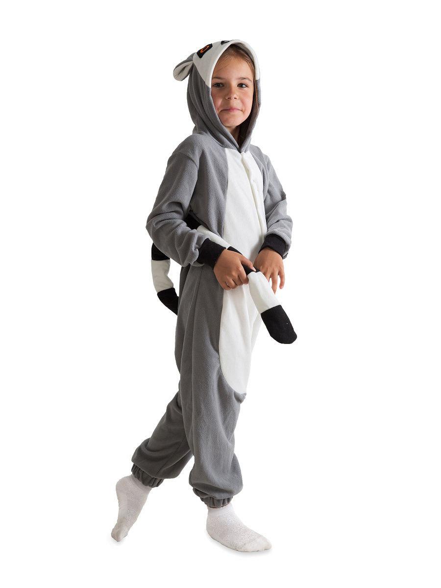 Пижама-комбинезон кигуруми ЛЕМУР для девочки» — карточка ... a3074e3081e9c
