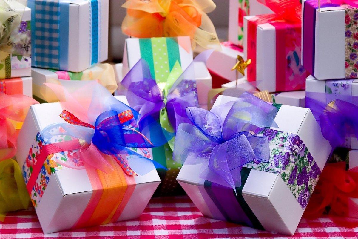 Подарки в день рождения открытки