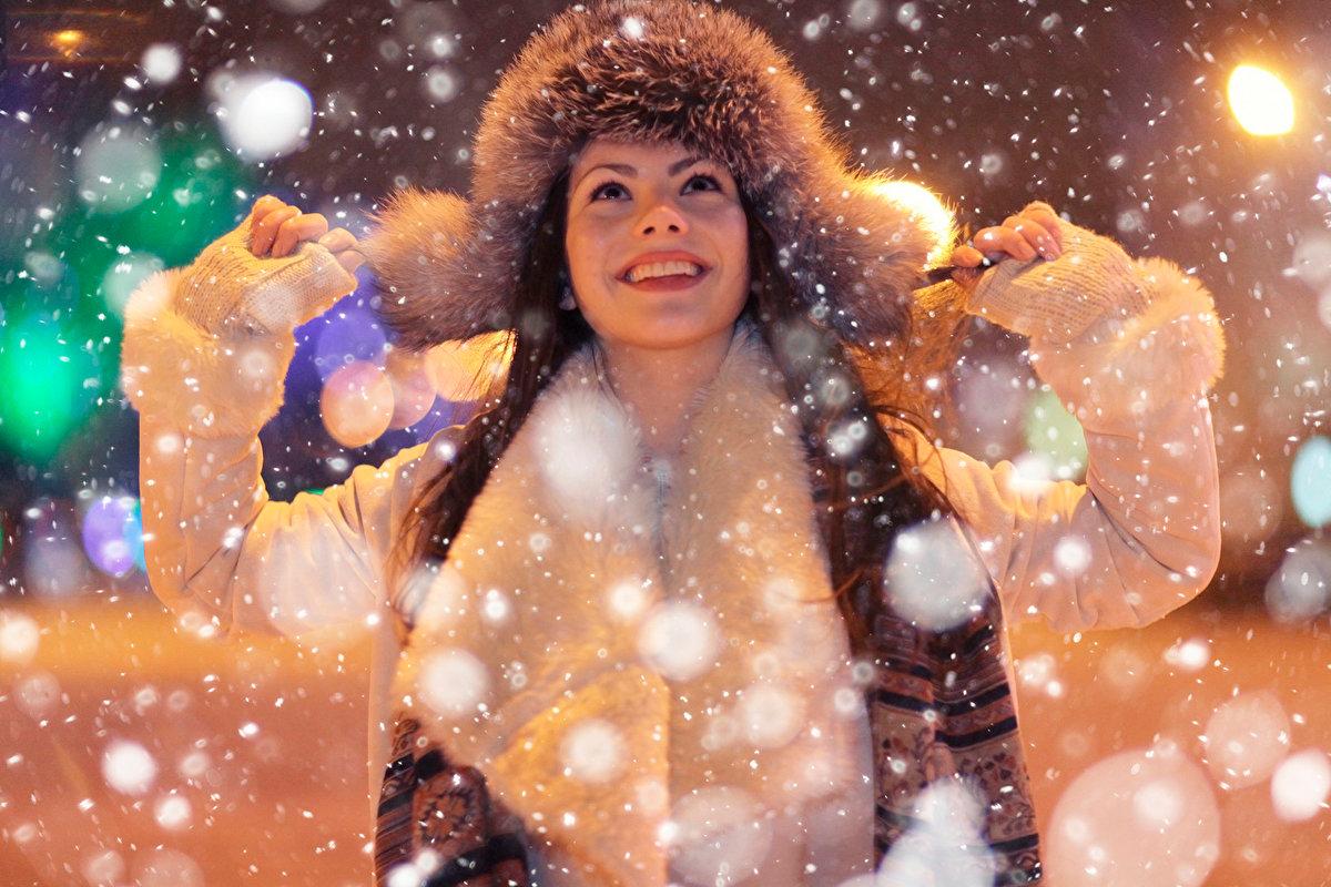 новогодние картинки люди в снегу жизни