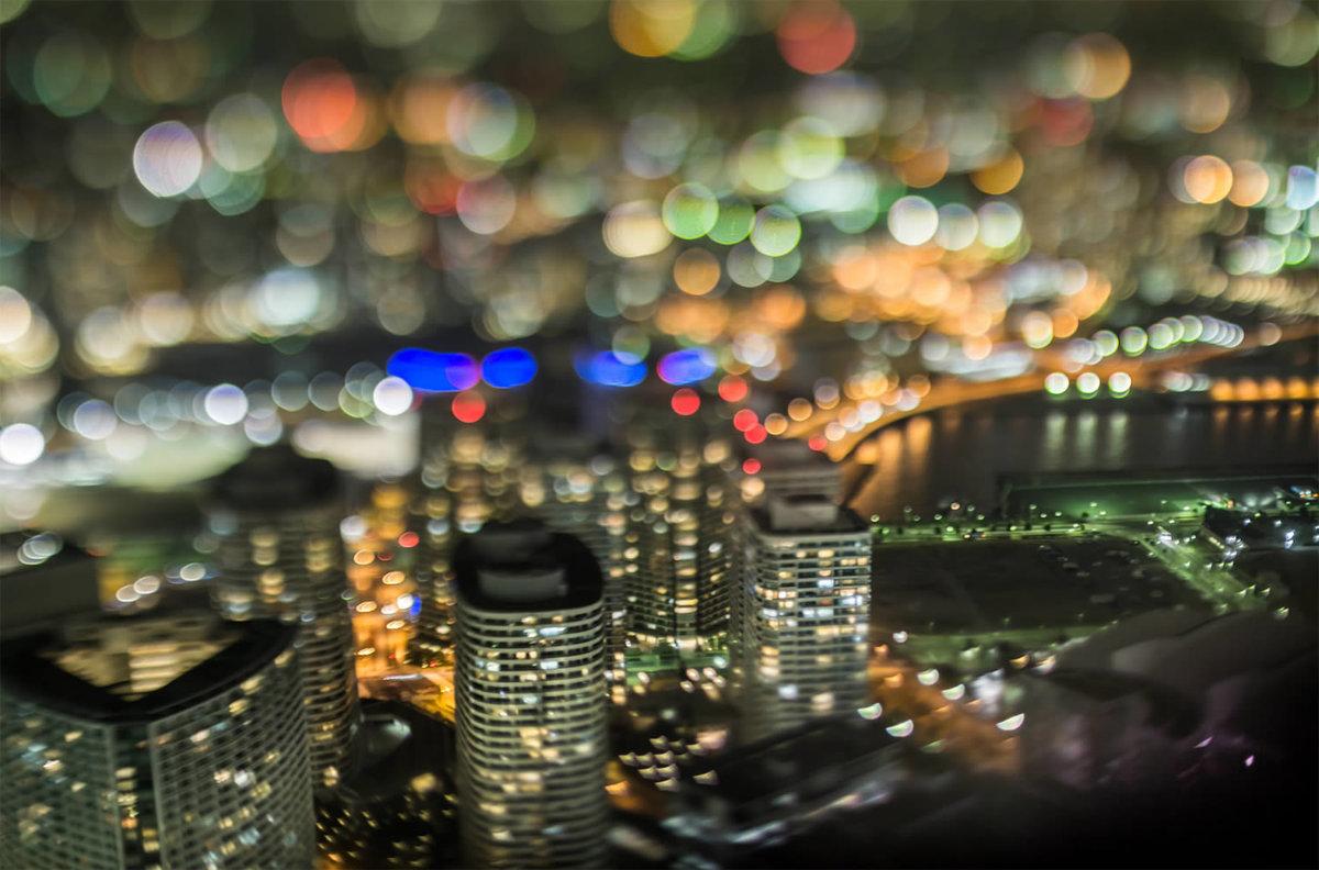 результате на каком режиме фотографировать ночные огни города для поиска одинаковых