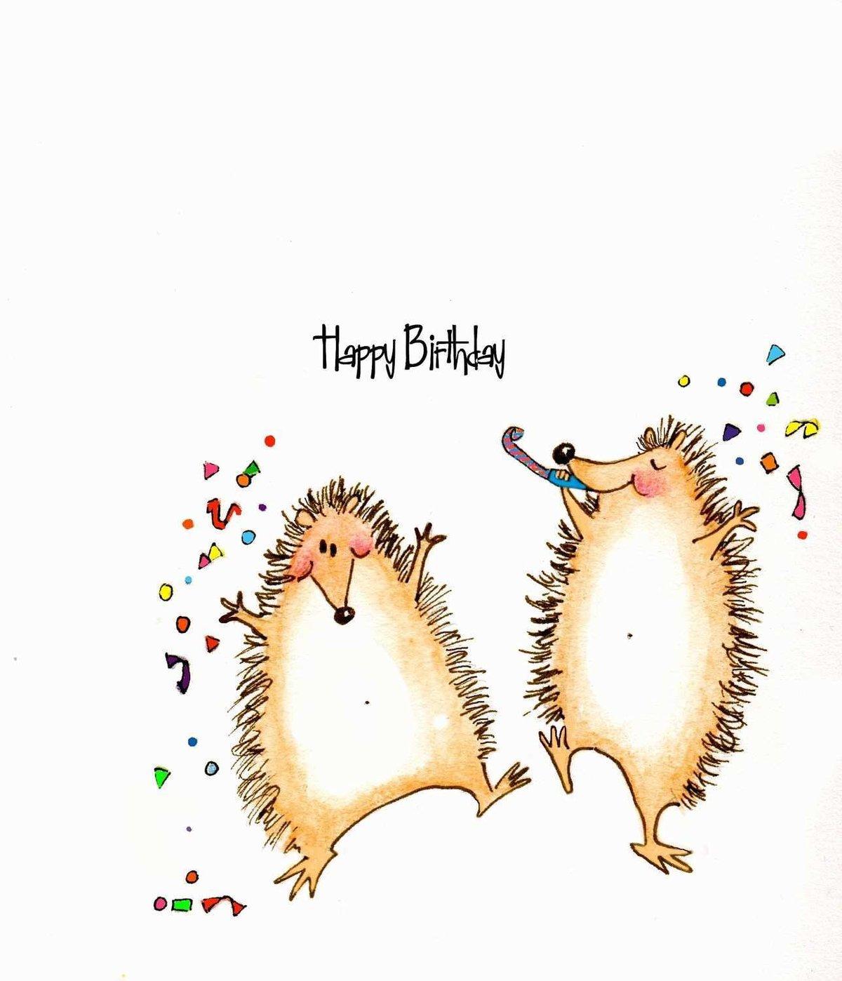 Поздравления с днем рождения прикольные картинки с ежиками