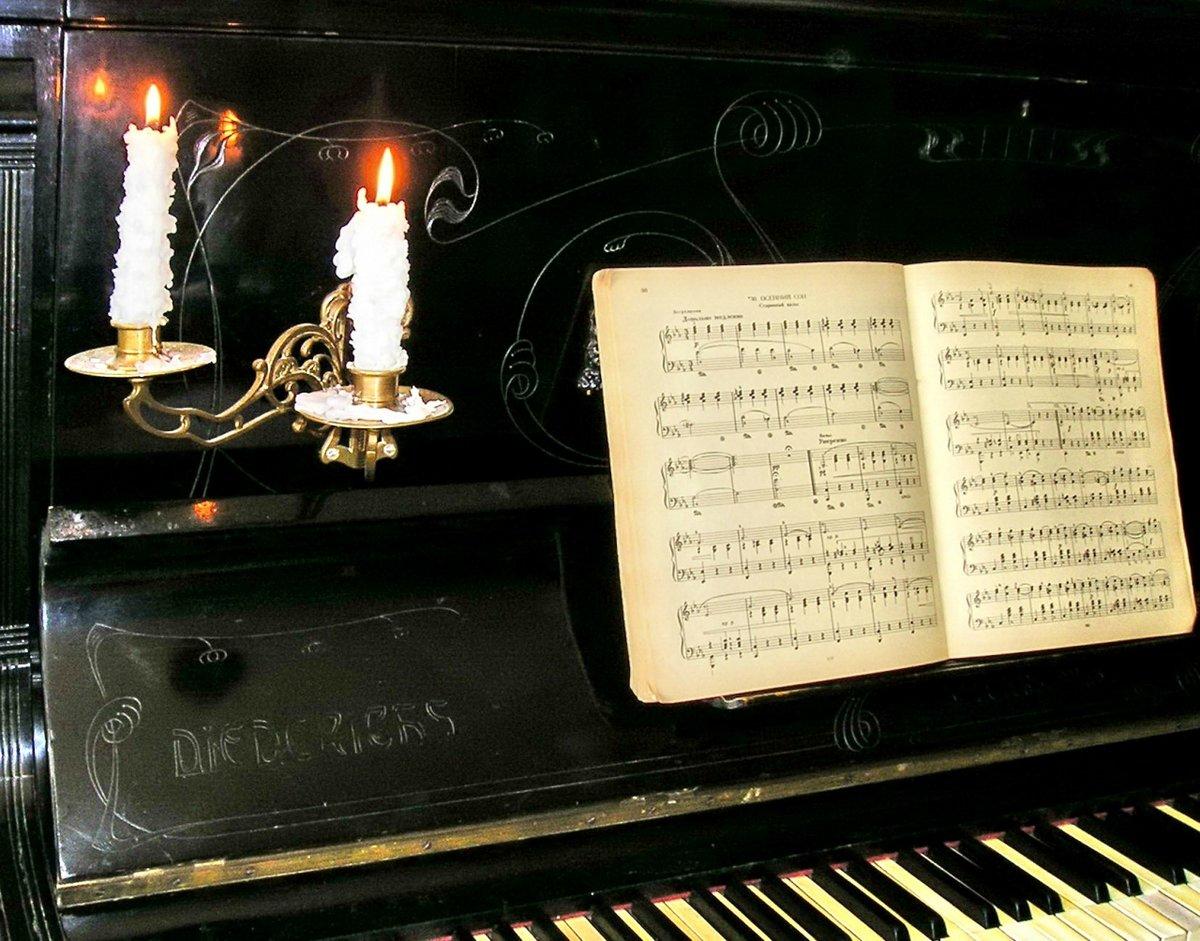 Картинки рояль свечи