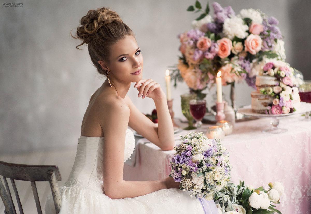 Невеста на фотосессии