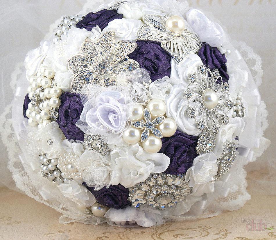 Цветы купить, свадебные букеты из ленточек фото
