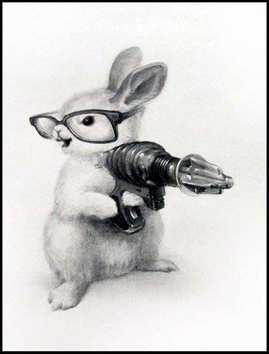 лежал заяц с автоматом картинка очень нравятся волки