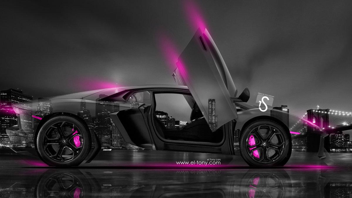 Lamborghini Aventador Open Doors Crystal City Car 2014