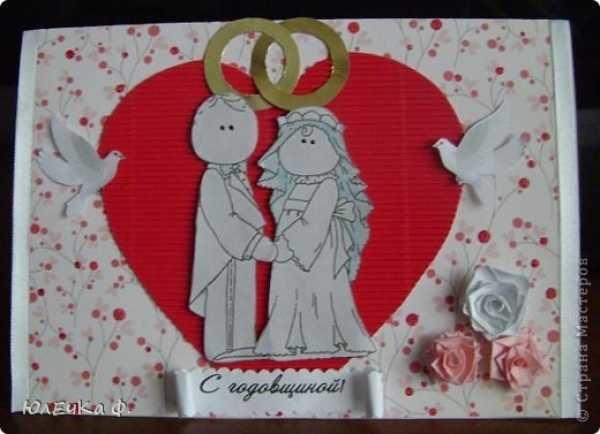 Открытка на день свадьбы своими руками для мамы и папы, видео поздравление короткое