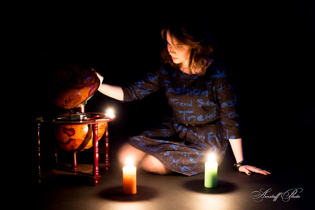 Картинки ночь свеча девушка