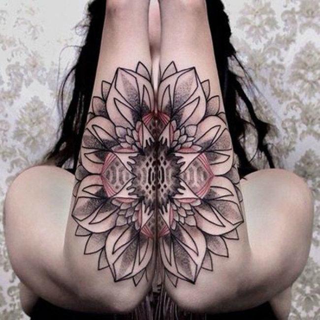 Flower tattoo on pussy, porn gifs huge grandmas
