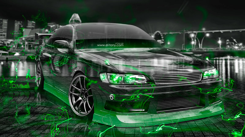 Captivating Toyota Mark2 JZX90 JDM Tuning 3D Crystal City