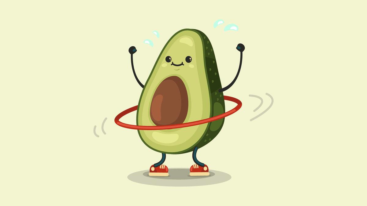 Мультяшные картинки авокадо