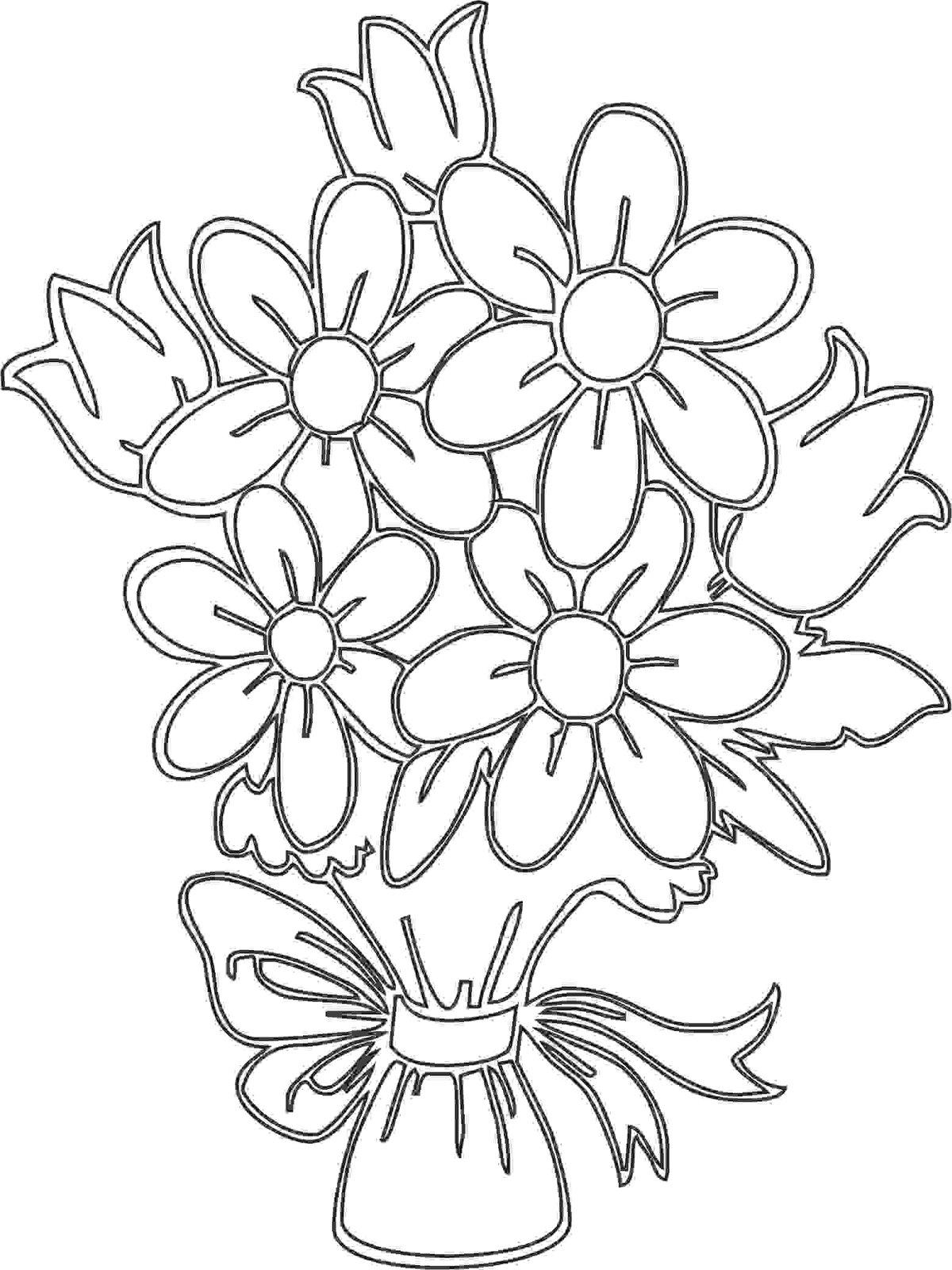 Шаблон букета цветов для вырезания, цветы актобе