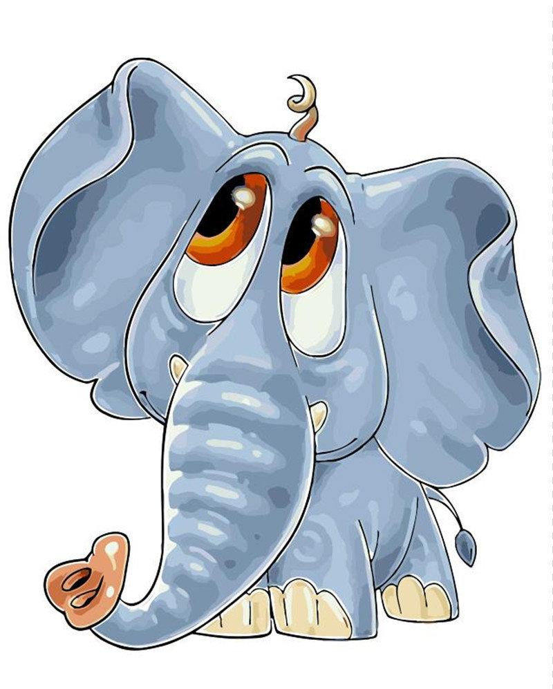 Слоник смешной рисунок