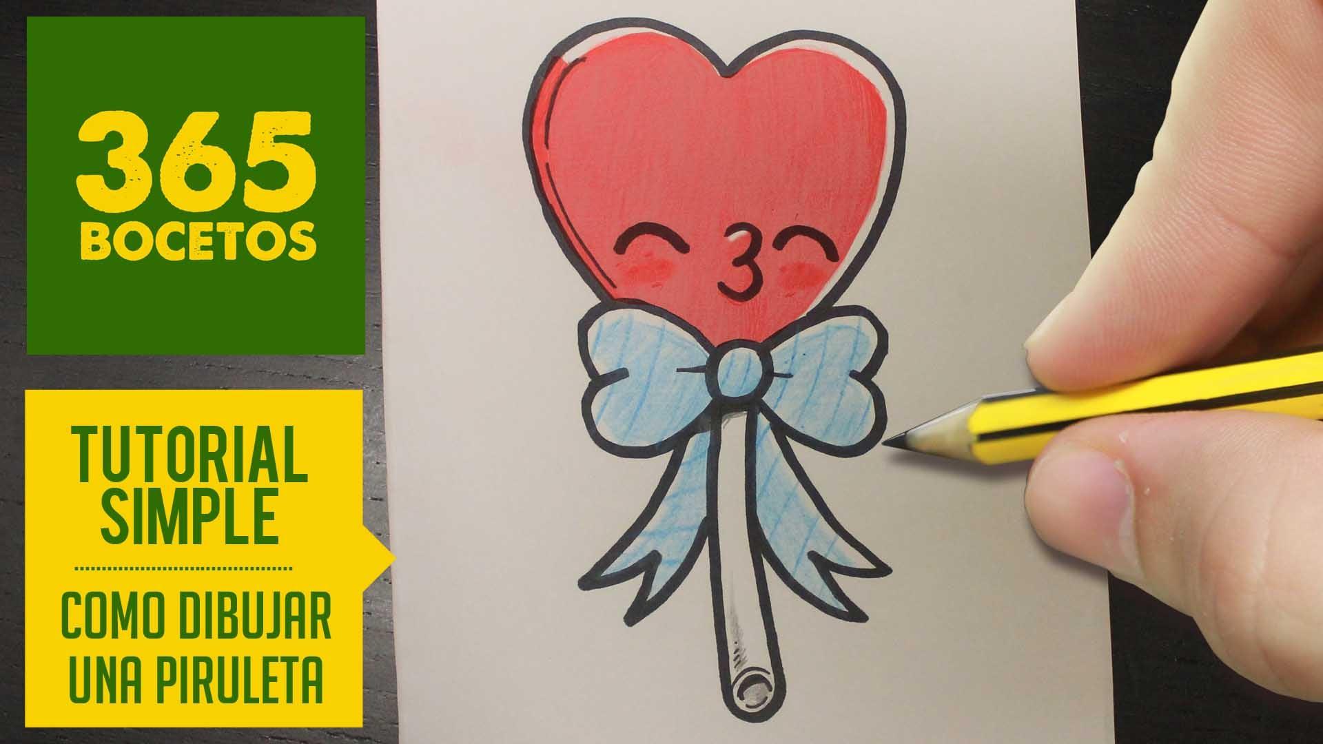 Como Dibujar Una Piruleta Kawaii Paso A Paso Dibujos Kawai Card