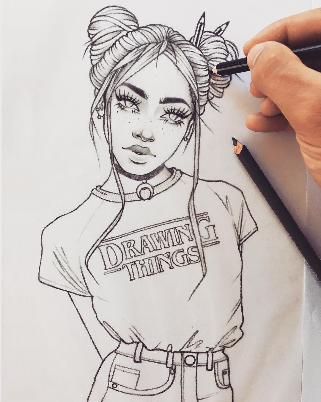Красивые арт рисунки для срисовки, днем
