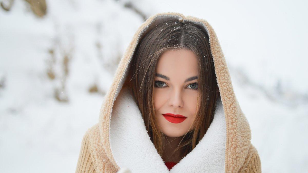 Девушки зимой фотографии