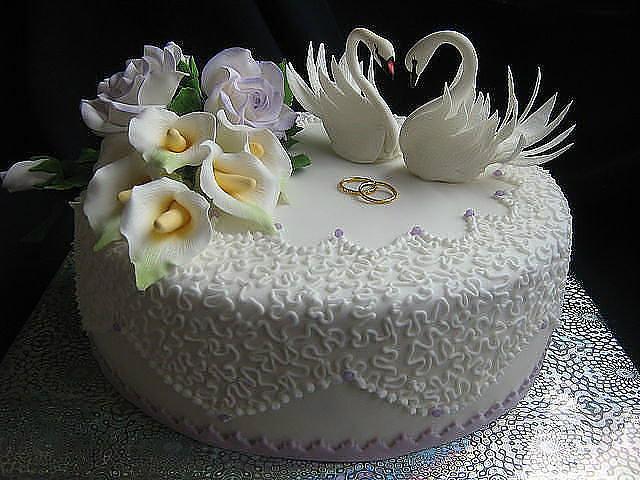 Картинки свадебные торты с лебедями, твой моя