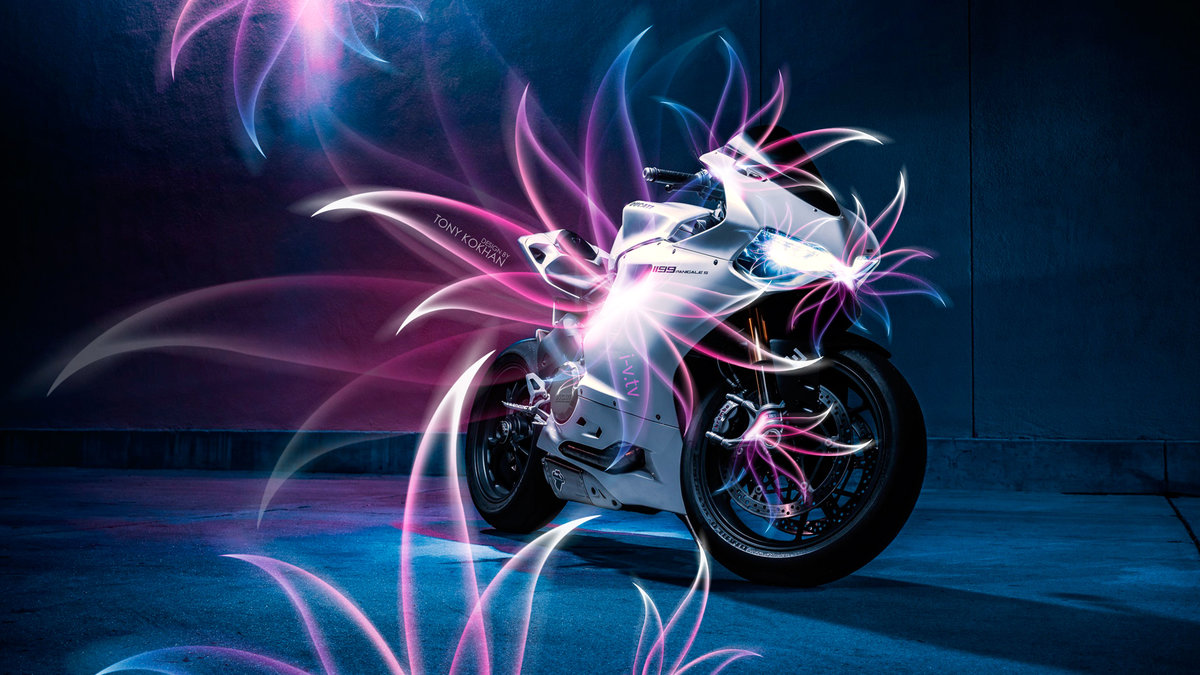 Moto Ducati 1199 Super Abstract Bike 2015 Original