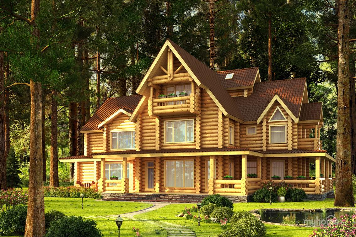 Дом в картинках деревянный, лет какая