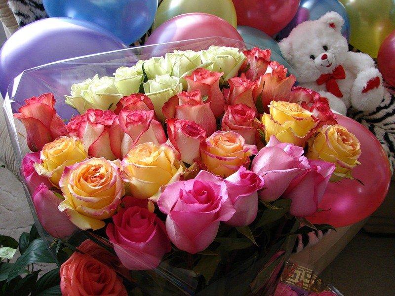букет роз и шарики картинки самое, только использованием