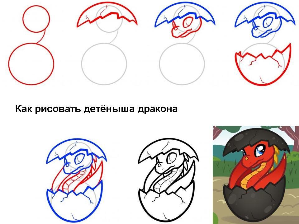 Крутые рисунки по шагам