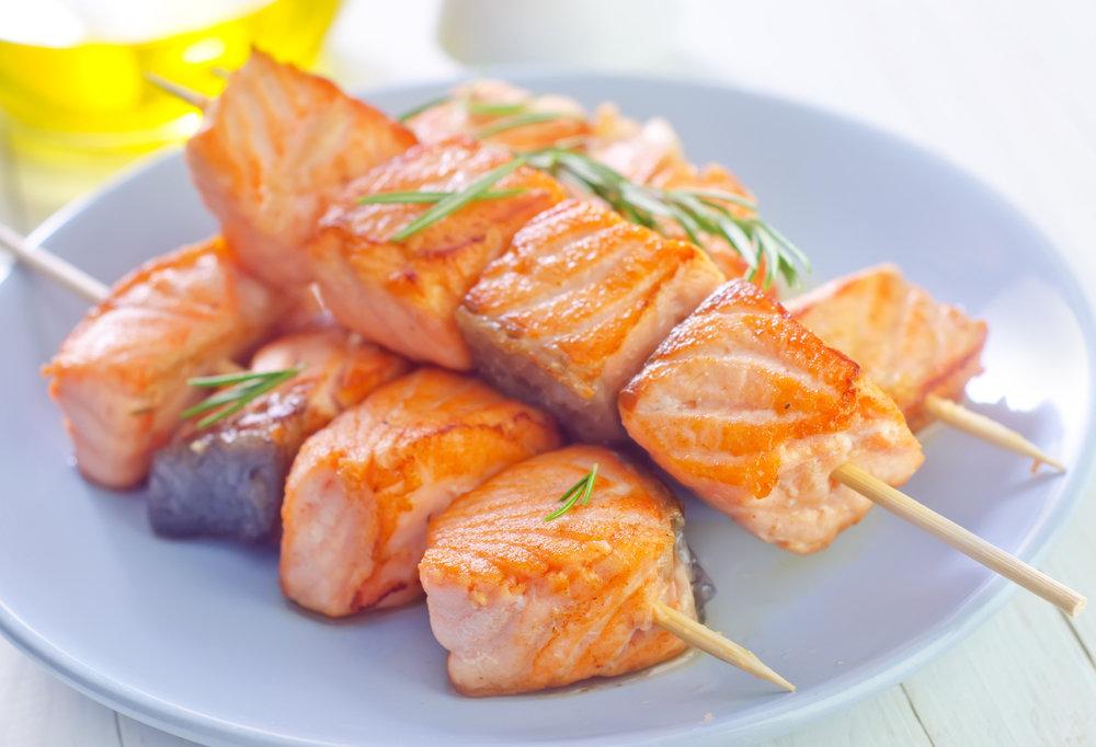 Шашлык из рыбы с картинками