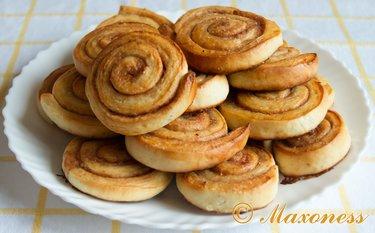 рецепт утренней булочки с корицей