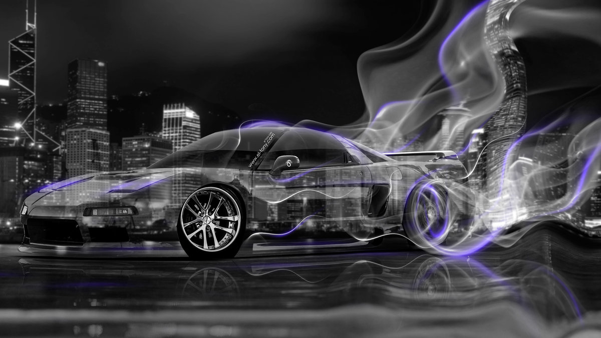 Honda NSX JDM Crystal City Plastic Smoke Drift Car 2014 Violet Neon ...