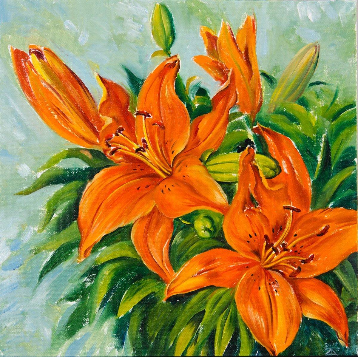 Картинки лилий гуашью