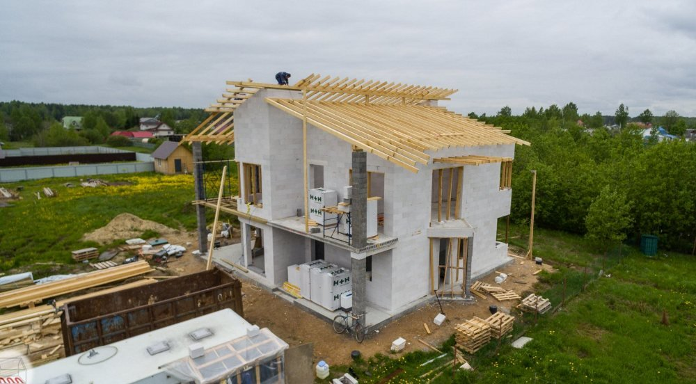 этапы строительства частного дома из газобетона
