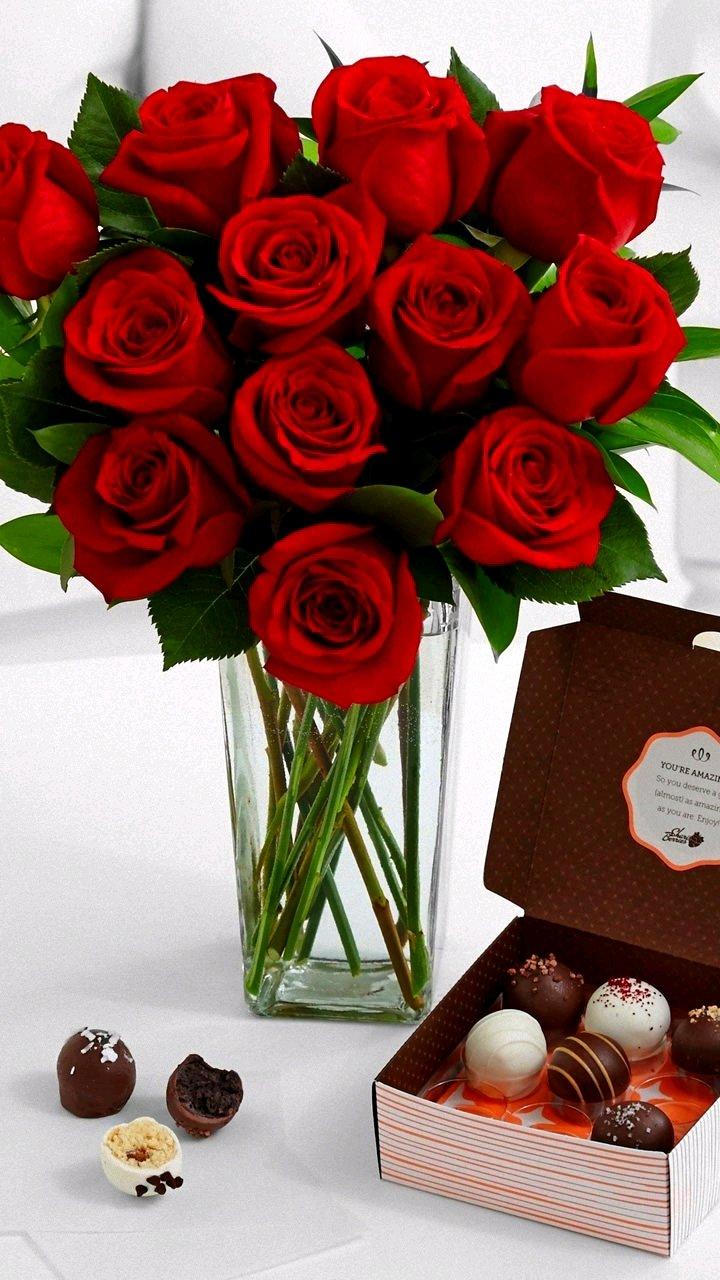 Цветы и конфеты картинки красивые букеты, надписью